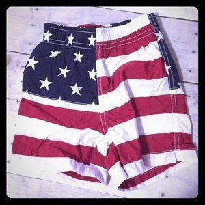 Baby boy flag swim trunks